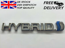 Hybrid Toyota Badge Emblem 3D ABS Chrome Logo Car Sticker Prius RAV4 Auris CP25