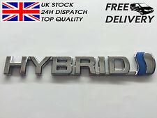 Hybrid Toyota Badge Emblem 3D ABS Chrome Logo Car Sticker Prius RAV4 Auris CP25