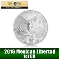 2016 1oz Silver Libertad BU  *Treasure Coin of Mexico™* FREE CAPSULE