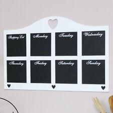 White Daily Chalk Board vintage shabby chic blackboard kitchen office decor