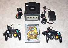 Nintendo Gamecube Schwarz + 2 original Controller + MARIO SMASH FOOTBALL