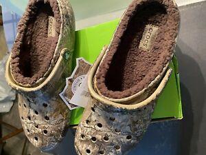 Crocs Classic Realtree Edge Lined Clogs Camo Chocolate MENS 10 NWT
