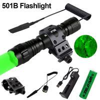 Red/Green LED Tactical Flashlight Torch Hunting Light Gun Rifle Mount Switch Kit