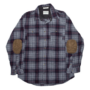 Vintage PENDLETON Grey 90s Wool Checked Long Sleeve Shirt Mens L