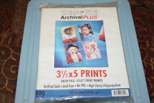 CLEAR FILE archival plus -pages(100-3  1/2x5 Print pages Each Holds Eight