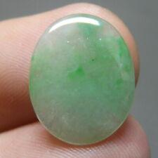 4.95 ct Genuine Jadeite Jade (Natural-Type A) Green-White Cabochon