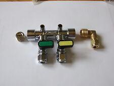 Caravan Gas Manifold 2 tap elbow inlet and plug, LPG Motor home / Camper / Boat.