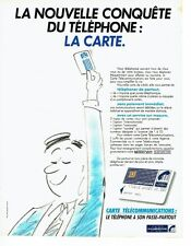 Publicité Advertising 077  1984  PTT télécommunications  carte téléphone