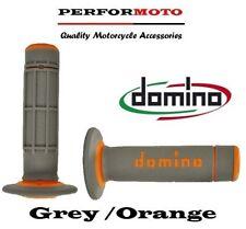 Domino Diamond Waffle Grips Grey / Orange Yamaha TT600