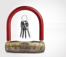 Super U-Lock Siren Bike Lock – Heavy Duty – With Alarm Function Anti-thelf