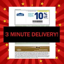 FIVE 5X Lowes 10% OFF Coupons - Fastest - Best Service -Best Expiration +28 Days