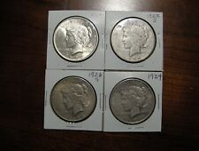 4 PEACE DOLLARS 1923 1922S 1926S 1924  ***FREE SHIPPING**