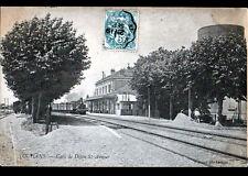 LOUHANS (71) TRAIN en GARE de DIJON SAINT-AMOUR animée , AMBULANT en 1904