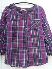 FAT FACE - Ladies Shirt - Size 10 - Two sleeve lengths - Cotton - Check pattern