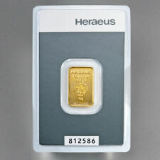 Heraeus Kinebar 5 Gramm 999.9 Gold Goldbarren Barren im Blister mit Zertifkat