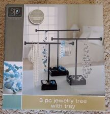 New Sarah Peyton Home 3 piece Jewelry Tree with Tray Two sets per purchase