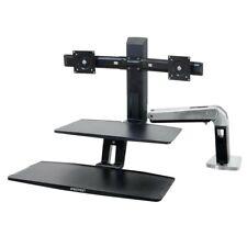 Ergotron WorkFit Dual Monitor Mounting Workstation Suspended Keyboard 24-392-026