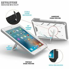 Premium Rugged & Landscape Stand Feature Protective Case For iPad Pro 9.7 White