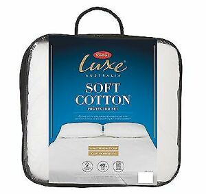 Tontine Luxe Soft Cotton Quilted Mattress & Pillow Protector Set