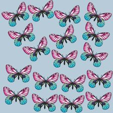 Pink Blue Butterfly Stickers Colourful Butterflies Waterproof Many Uses