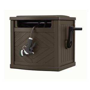 Garden Hose Portable Storage Box Outdoor Hideaway Water Reel Container 150 Ft
