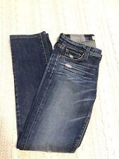 Textile Elizabeth & James 25 Stills Straight Leg Slim Jeans Distressed