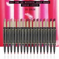 Double End Lipstick Matte Lip Liner Pen Waterproof Long Lasting Makeup Lip Gloss