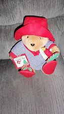 1999 Kid'S Gift Brand Plush Holiday Paddington Bear With Attached Ornament Euc