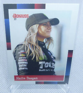 2021 Panini Donruss NASCAR Hailie Deegan 1988 Retro Rookie Card #194 NICE CARD