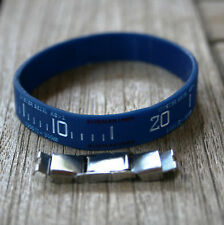 """""""OYSTER BEZEL"""" SILICONE WRISTBAND WITH EXTRA CLASP, BLUE SUBMARINER DESIGN"""