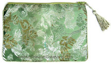 Chinese Silk Purse -  Dragons - Green