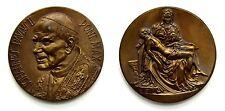 Medaglia Joannes Paulus II Pont. Max. (Inc. C. Pozzi) Bronzo, Diametro cm 6 Peso