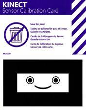 Microsoft Kinect Sensor Calibration Card Original Game Insert