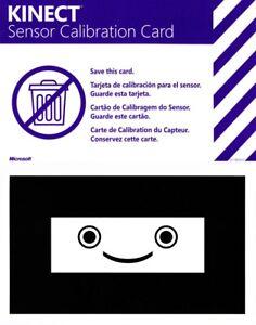 (x2) Official Microsoft Kinect Sensor Calibration Card Xbox 360 X360 Game Insert
