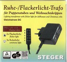 7 W 3,5 V Steger calme-Flackerlicht-transformateur pour poupées maisons//crèches