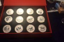 2008-2019 Australia Lunar Series II Non - Colored 1oz Coins w / Box