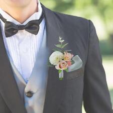 Artificial Wedding Flower Corsage Groom Best Man Boutonniere Party Decor New