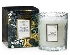 6.2 oz Voluspa Panjore Lychee Scalloped Edge Boxed Glass Candle
