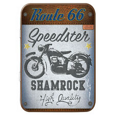 Route 66 Metal Keepsake Tin Men Gift Storage Officially Licensed Image USA 50416