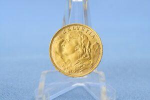 Schweiz 20 Franken L 1935 B Vreneli * 6,45 Gramm 900 Gold * VZ