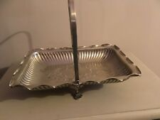LOVELY VINTAGE SILVER PLATE BON BON / CAKE SERVING TRAY WITH ORNATE DETAIL