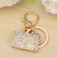 Crystal Rhinestone Handbag Charm Pendant Keychain Bag Keyring Key Chain Gift Hot