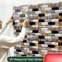 3D Self-adhesive Waterproof Brick Shape Wall Sticker Bathroom Home Decoratio pn