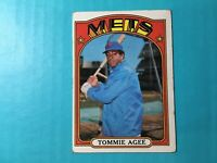 1972 TOPPS BASEBALL TOMMIE AGEE CARD #245   METS
