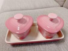 Le Creuset Heart Tableware Pink Bowl Set Kitchen Utensils Kitchenware
