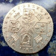 More details for 1787 george iii silver sixpence no hearts #139