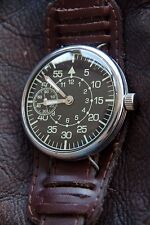 VINTAGE PILOT OBSERVER WATCH B-UHR WW2 TYPE SERVICED 1954 RELOJ MONTRE
