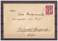 Deutsches Reich, MiNr. 542 Algershausen nach Langeoog 10.04.35