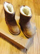 UGG Australia Winter Leather Upper Shoes for Girls