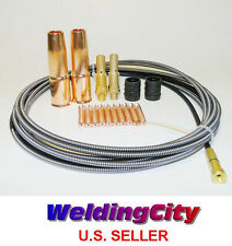 """MIG Welding Gun Kit .035"""" for Lincoln 200 Tweco #2 Tip-Diffuser-Nozzle-Liner M7L"""